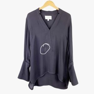 Brochu Walker Tops - Brochu Walker Alva Popover Silk Shirt Long Sleeves
